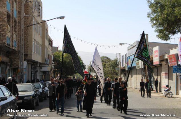 عزاداری مردم اهر در سومین روز شهادت ابا عبدالله الحسین (ع)