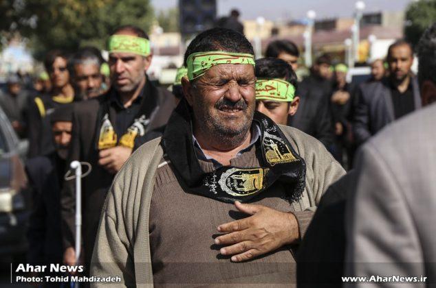 عزاداری هیئت ثامن الائمه (ع) ویژه روشندلان منطقه ارسباران در روز تاسوعا