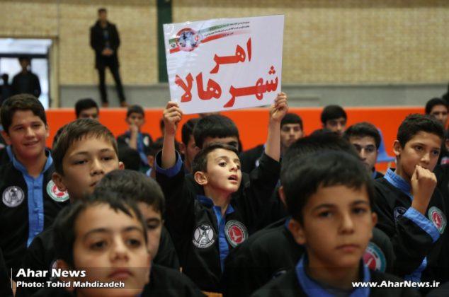 مراسم افتتاحیه مسابقات بهترین های سبک هالای استان در اهر