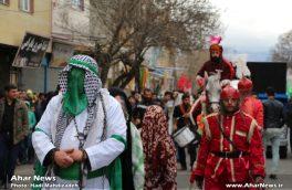 عزاداری هیئت های حسینی اهر در روز اربعین