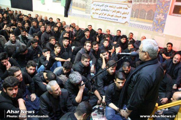 عزاداری مردم اهر در شب اربعین حسینی
