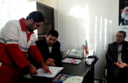 بازدید فرماندار هوراند از پایگاه امداد جاده ای مجید آباد