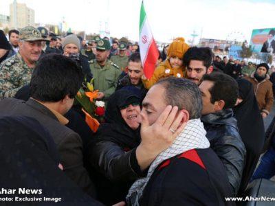 استقبال از پاسدار مدافع حرم حضرت زینب (س) در شهرستان اهر