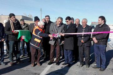 افتتاح پروژه روکش آسفالت راه روستایی در خانگاه هریس