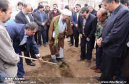 کاشت نهال توسط مسئولین و حامیان محیط زیست در اهر به مناسبت روز درختکاری