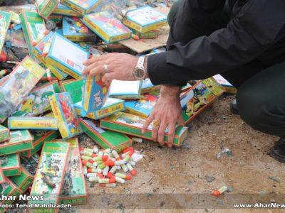 امحاء ۹۶ هزار مواد محترقه در شهرستان اهر