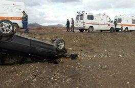 واژگونی پراید در جاده اهر – تبریز با شش مصدوم