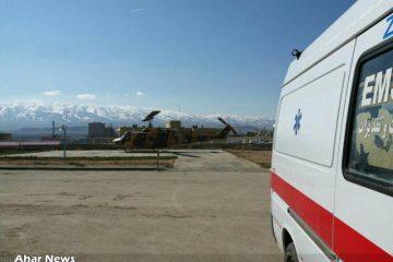 اعزام بیمار سکته مغزی توسط اورژانس هوایی از اهر به تبریز