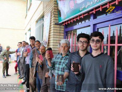 حضور حماسی مردم اهر در ۳ انتخابات مهم این شهرستان (۱)