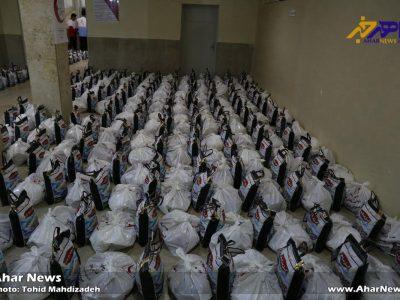 آغاز توزیع ۱۵۰۰ بسته غذایی و بهداشتی طرح ملی همای رحمت در اهر