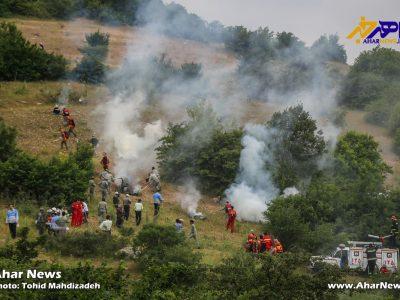 مانور سراسری اطفاء حریق جنگل ها و مراتع در شهرستان اهر