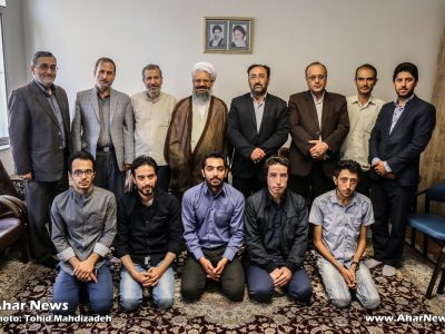 دیدار اعضای کمیته اجرایی اولین جشنواره سراسری عکس سال ارسباران با امام جمعه اهر