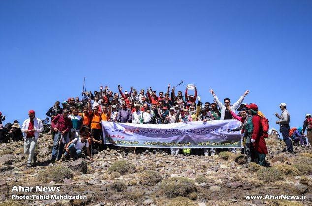 صعود سراسری کارگران کوهنورد به قوشاداغ اهر