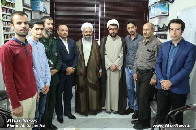 بازدید امام جمعه اهر از دفاتر نشریات و پایگاه های خبری اهر