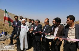 افتتاح پروژه های مختلف عمرانی در شهرستان اهر به مناسبت هفته دولت