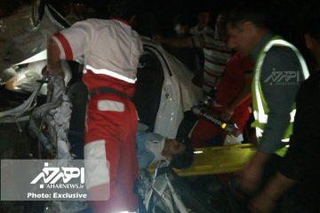 تصادف خونین در جاده اهر – مشگین با ۴ کشته و مصدوم