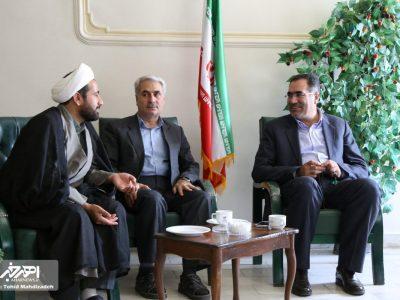 دیدار روسا و کارمندان ادارت اهر با زاهد محمودی، فرماندار جدید شهرستان