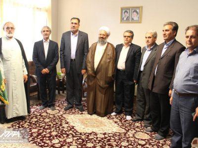 دیدار زاهد محمودی، فرماندار جدید شهرستان اهر با امام جمعه این شهر