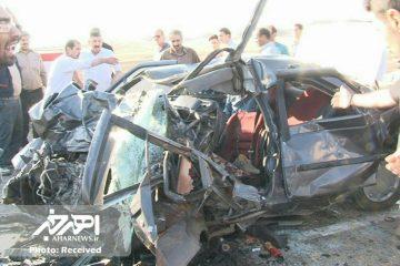 ۵ کشته و مصدوم حاصل تصادف نیسان و روآ در جاده هریس – زرنق + تصاویر
