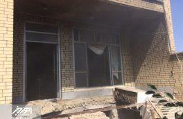 انفجار گاز منزل مسکونی با ۲ مجروح در اهر + تصاویر