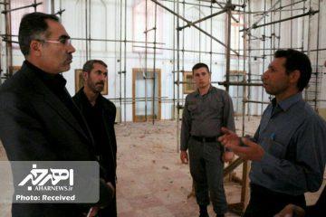 فرماندار اهر از روند بازسازی بقعه شیخ شهاب الدین اهری بازدید کرد