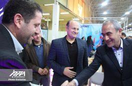میهمانان غرفه شهرستان اهر در روز چهارم نمایشگاه مطبوعات استان