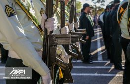 صبحگاه مشترک نیروهای مسلح به مناسبت هفته نیروی انتظامی در اهر