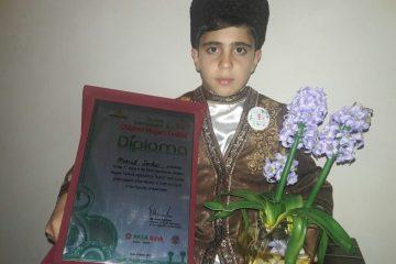 کسب مقام اول مسابقه بین المللی موغام در باکو توسط هنرمند خردسال اهری
