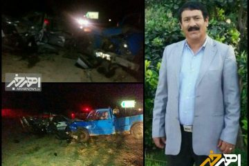 فوت رئیس اداره منابع طبیعی ورزقان در سانحه تصادف