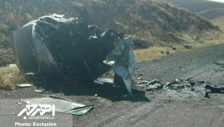 پنج کشته و زخمی در تصادف خونین سمند و پژو در جاده هریس – زرنق