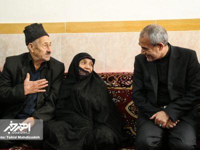 دیدار استاندار آذربایجان شرقی با خانواده شهید عابدی در اهر
