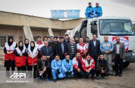 ارسال ۳ محموله کمک های مردمی از شهرستان اهر به زلزله زدگان غرب کشور