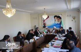 جلسه ساماندهی آرامستان های اهر با حضور مدیرکل اوقاف و امور خیریه استان