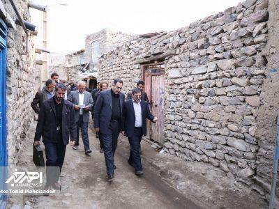 بررسی مشکلات روستاهای افیل و بهل با حضور مسئولان شهرستان اهر