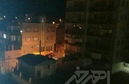 آتش سوزی یک واحد مسکونی در شهرک شیخ شهاب اهر