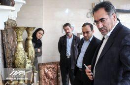 بازدید فرماندار اهر از کارگاه های آموزشی صنایع دستی شهرستان