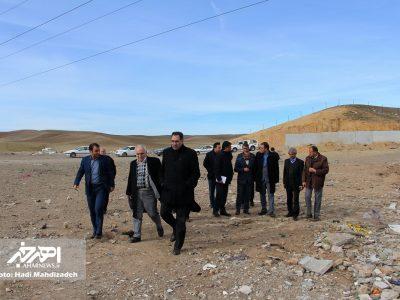 بازدید مسئولان استانی و شهرستانی از پروژه های شهرداری اهر