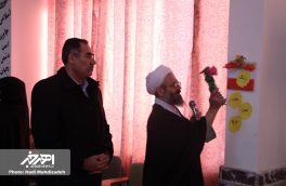 نواختن زنگ انقلاب در مدرسه نمونه دولتی توحید با حضور امام جمعه و فرماندار اهر