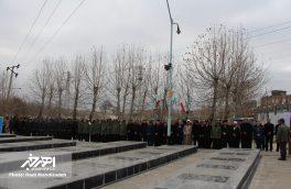 عطر افشانی و غبارروبی مزار شهدای اهر به مناسبت دهه مبارک فجر