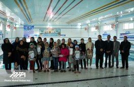 مسابقات شنای بانوان شهرستان اهر به مناسبت دهه مبارک فجر