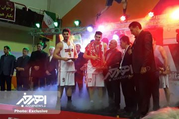 قهرمانی شهرداری تبریز در لیگ برتر بسکتبال با حضور بازیکن اهری