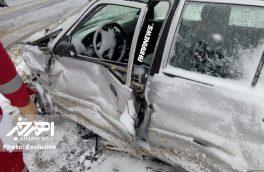 تصادف در جاده اهر – کلیبر با یک کشته و ۲ مصدوم
