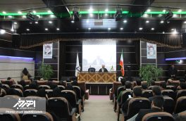 آیین افتتاح یادمان شهدای گمنام و خط تولید تینر سبز و بدون بو در دانشگاه اهر