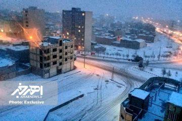 افزایش شدت بارش های برف در شهرستان اهر از امشب