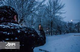 بارش برف در آخرین روز های بهمن ماه ۱۳۹۶