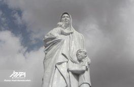 مراسم رونمایی از تندیس مهر مادر در اهر