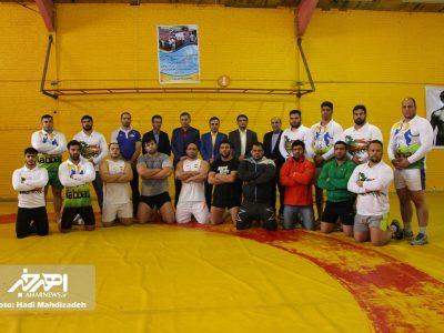 تمرینات اردوی تیم ملی کبدی با حضور رئیس فدراسیون در اهر