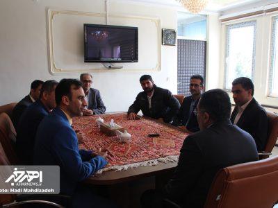 دیدار رئیس فدراسیون کبدی ایران با فرماندار شهرستان اهر