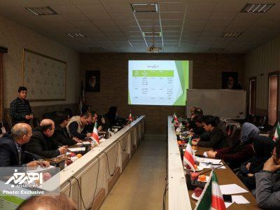 نشست خبری سرپرست شبکه بهداشت و درمان شهرستان اهر با خبرنگاران