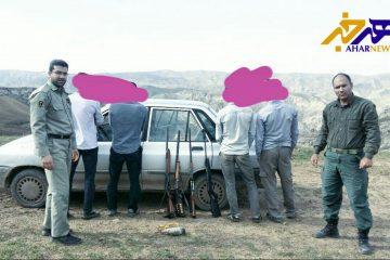 دستگیری ۴ شکارچی متخلف در شهرستان هوراند